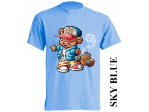 dětské-tričko-světle_modré-motiv-medvídek-tanec