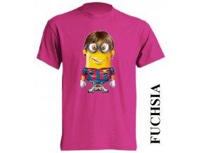 dětské_tričko-fuchsiové-tmavě_růžové-messi
