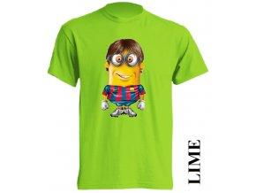 dětské-tričko-limetkové-potisk-mimoň-messi