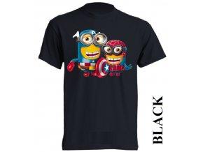 levné-dětské-tričko-černé-mimoň-spiderman