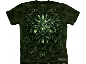 Tričko, keltské, druid, potisk, batikované, zelené