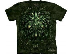 tričko-keltské-druid-potisk-batikované-zelené