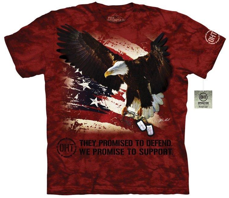 tričko, psí známky, military, batikované, potisk, usa vlajka Velikost: usa S (eu M) šířka 46, délka 66 cm