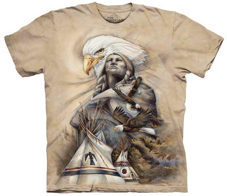 tričko, indián, orel, batikované, potisk, tee pee Velikost: usa XXL (eu 3XL) šířka 63, délka 83cm