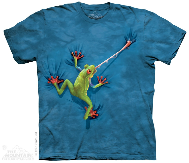 tričko, žába, vtipné, potisk, batikované, mountain Velikost: usa S (eu M) šířka 46, délka 66 cm