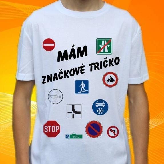 tričko, dětské, pánské, potisk, vtipné, značka Velikost: L