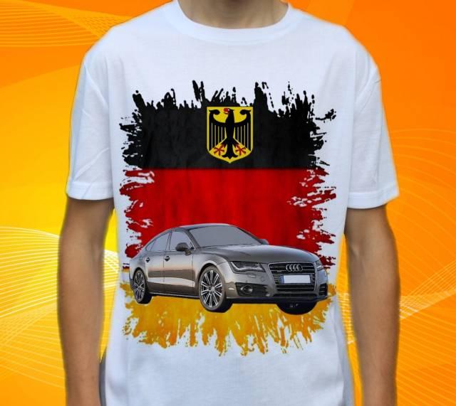Dětské a pánské tričko s autem Audi A7 Sportback Velikost: Stínítka do auta 2ks 45x36cm