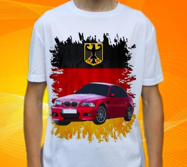 Dětské a pánské tričko s autem BMW M3 E46 Velikost: M
