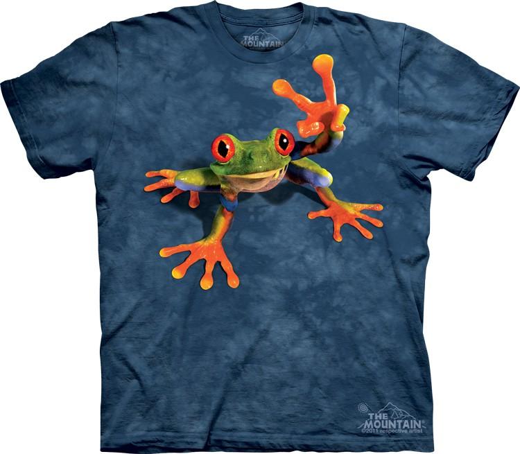 tričko, žába, hipie, vtipné, potisk, batikované Velikost: usa S (eu M) šířka 46, délka 66 cm