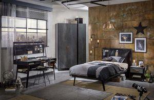Studentský nábytek v černé barvě Dark Metal