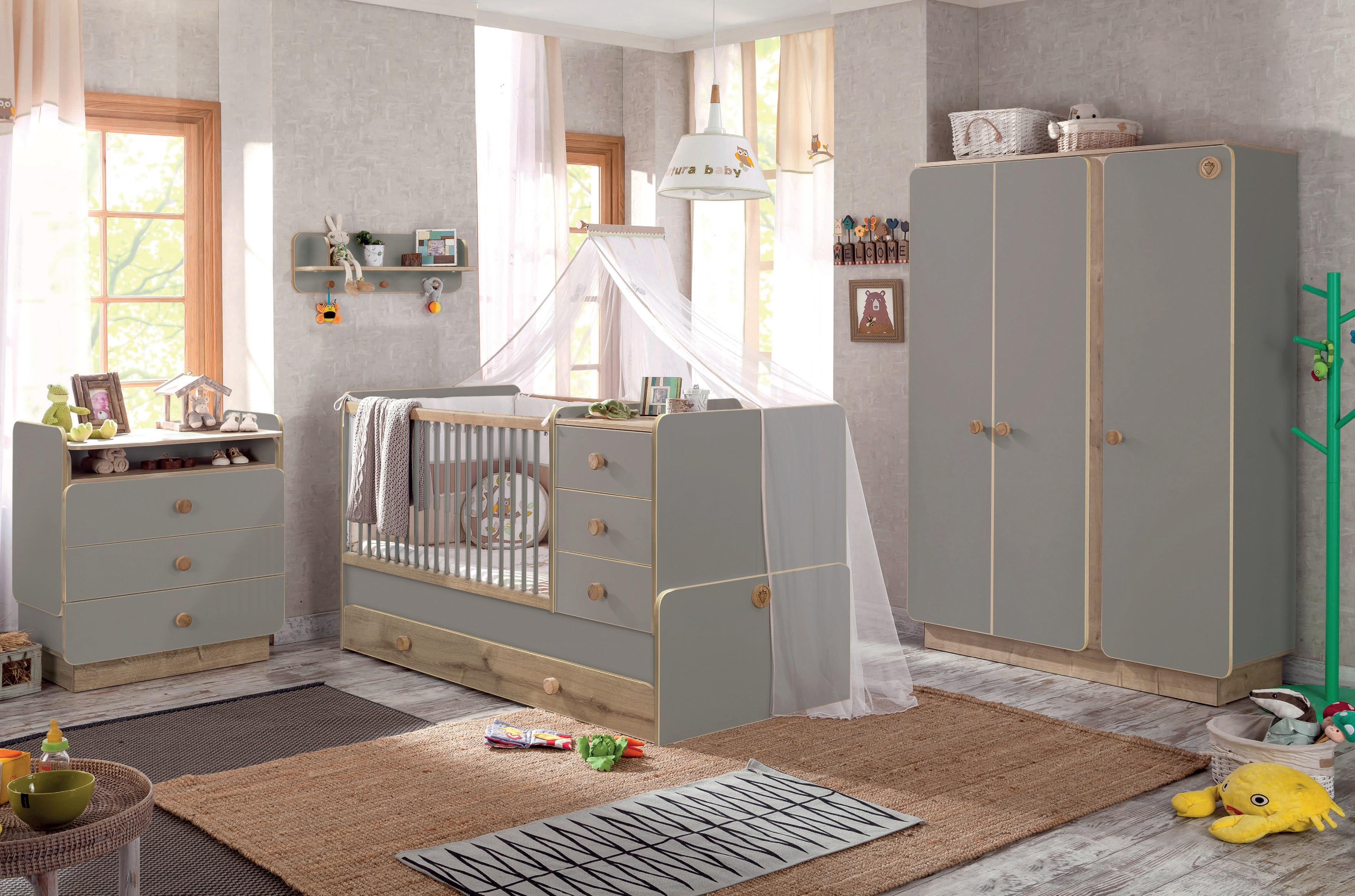 Pokojíček pro miminko kluka i holku Baby Grey