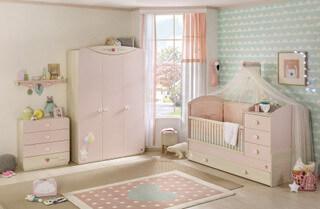 Růžový nábytek pro miminko holčičku Baby Girl