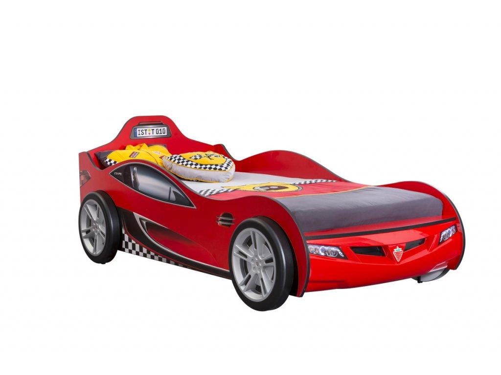 Dětská postel auto 90x190 cm Coupe červená