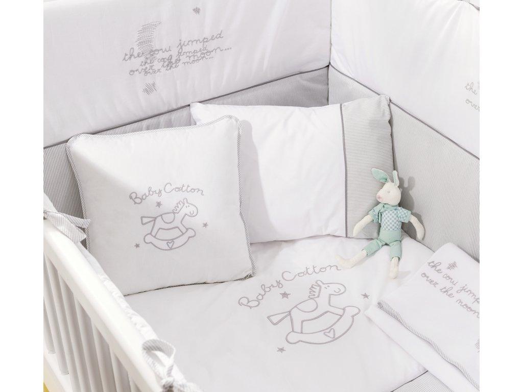 Ložní souprava do postýlky 80x130 cm Baby Cotton
