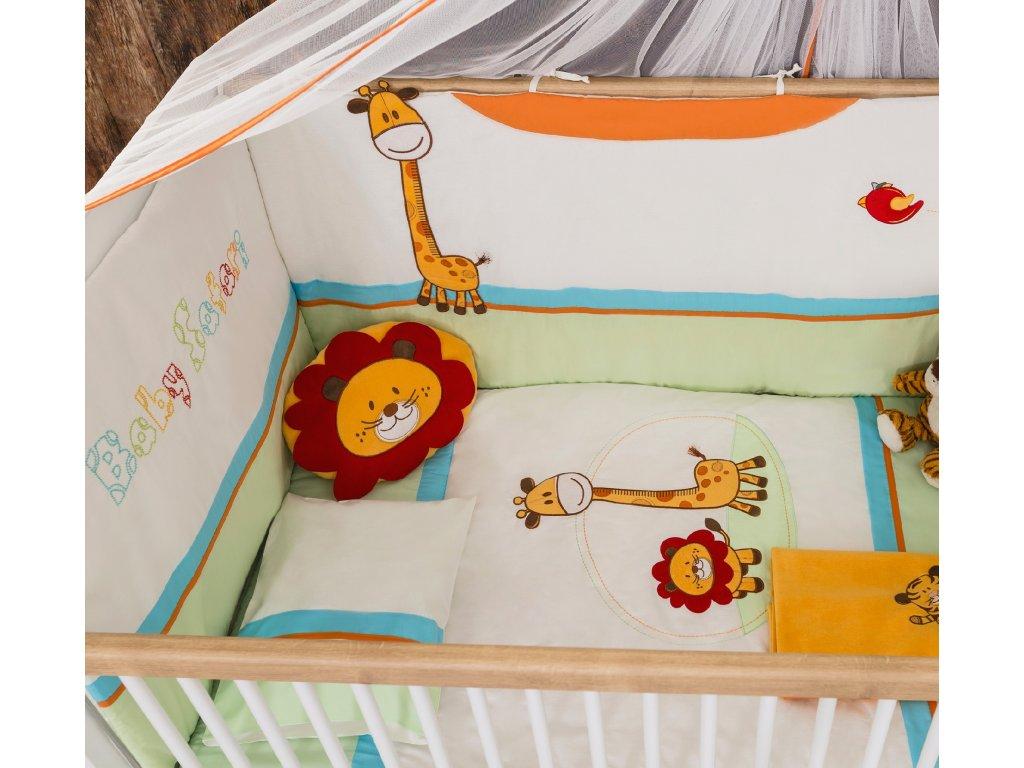 Ložní souprava do dětské postýlky 80x130 cm Safari Natura