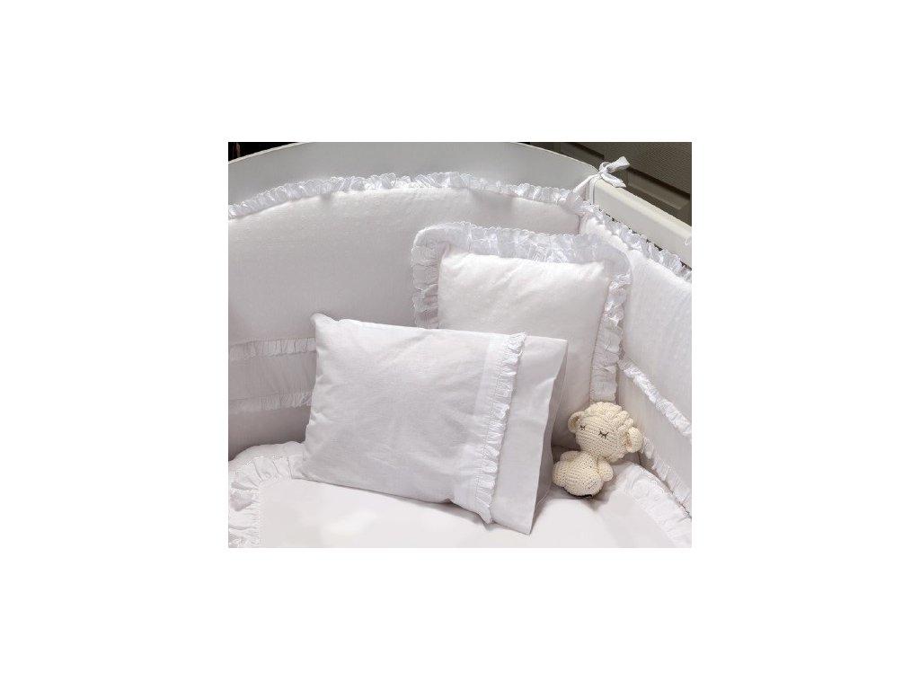 Ložní souprava do dětské postýlky 70x130 cm bílá