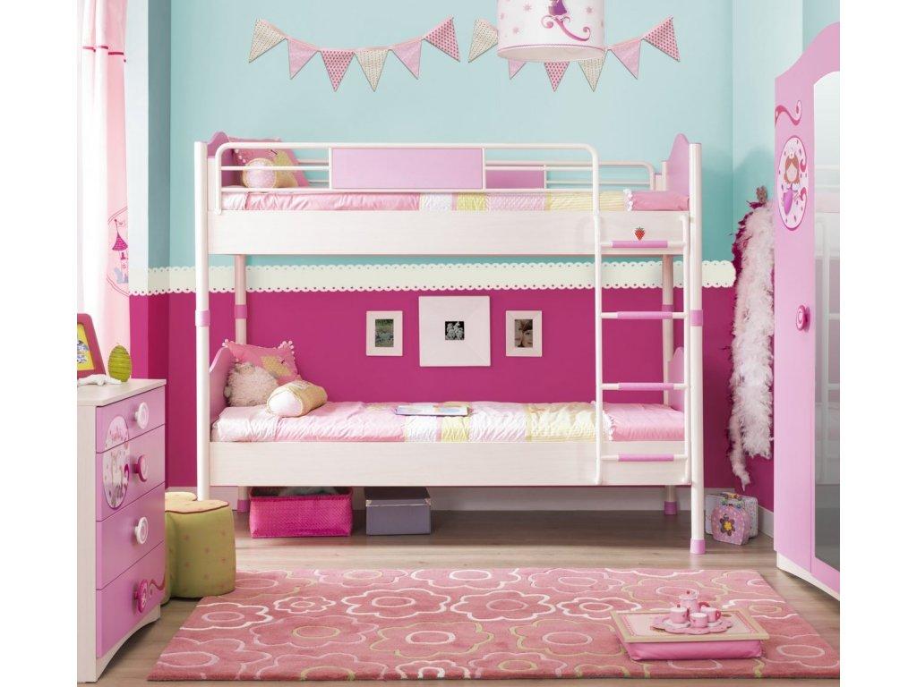 Dětská patrová postel s přistýlkou SL Princess