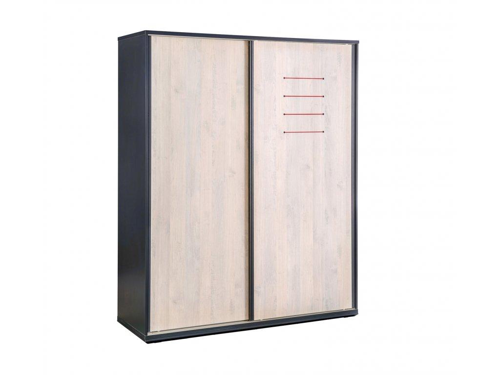 Studentská skříň s posuvnými dveřmi Trio