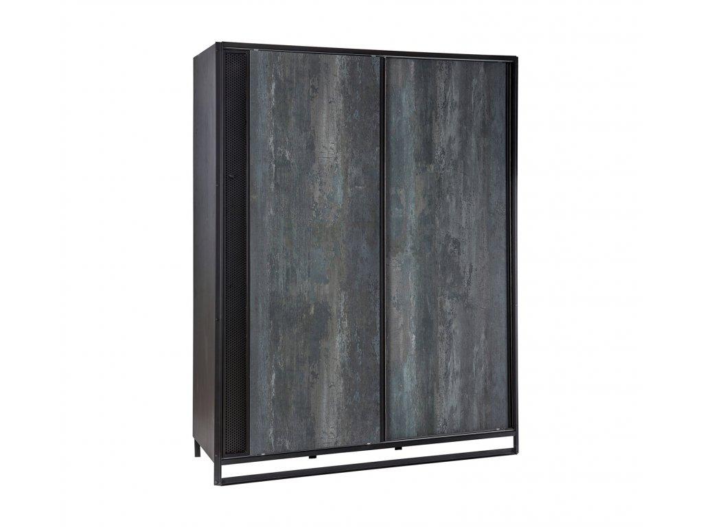 Studentská skříň s posuvnými dveřmi Dark Metal