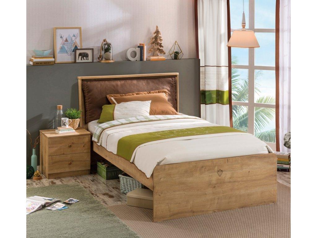 Studentská postel 100x200 cm Mocha
