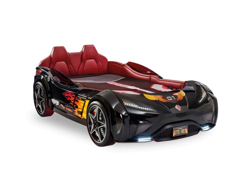 Dětská postel auto 100x190 cm GTS černá