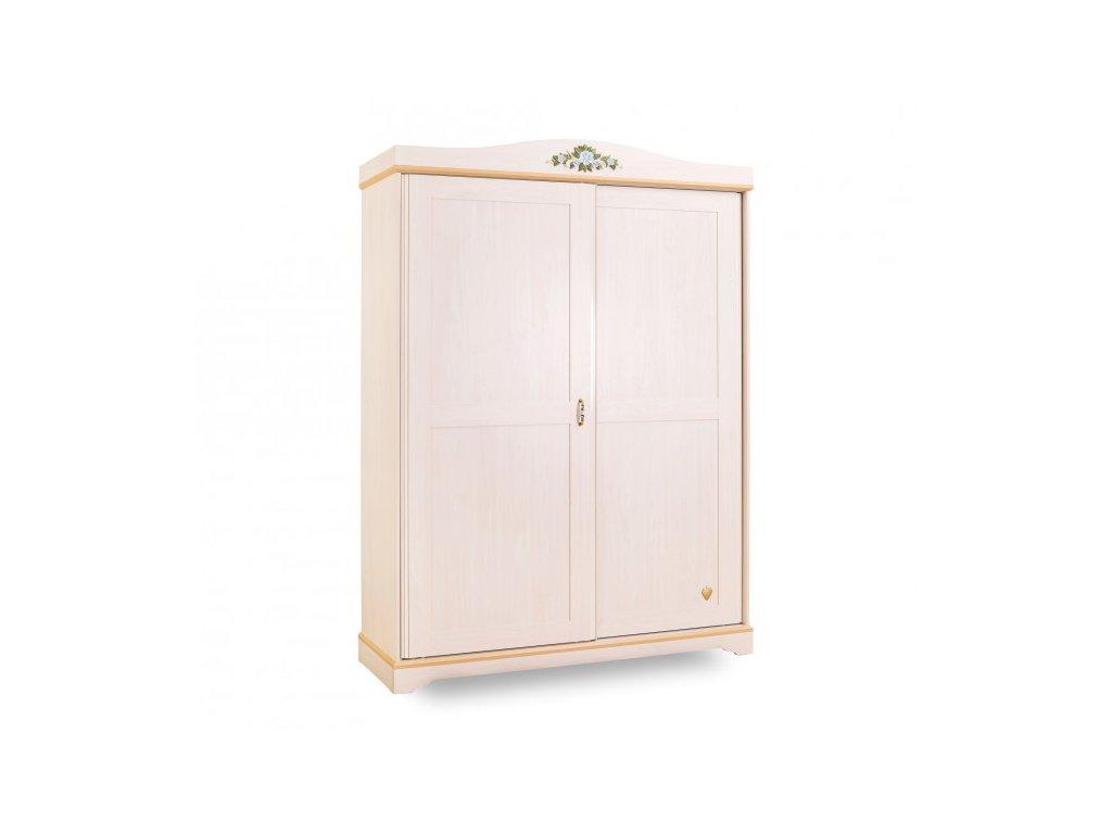 Studentská šatní skříň s posuvnými dveřmi Flora