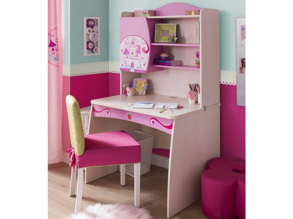 Dětský psací stůl s nástavcem Princess
