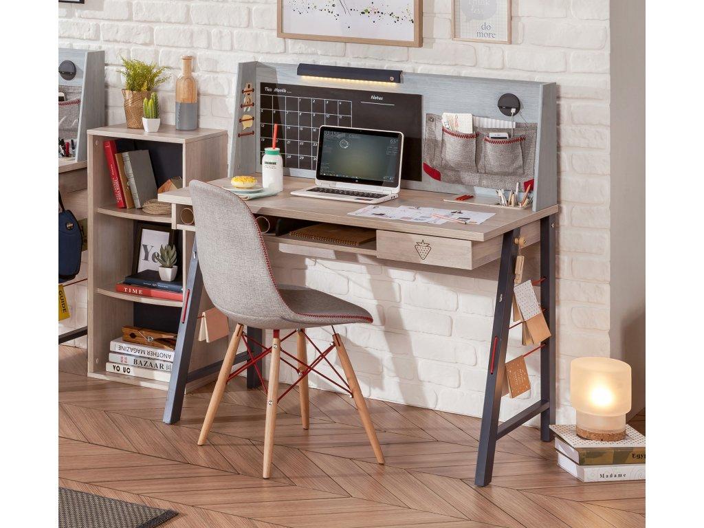 Studentský psací stůl s nástavcem malý Trio