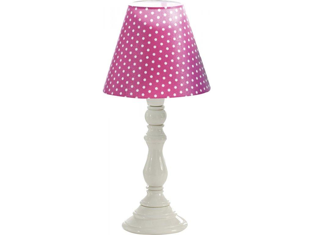 Lampa puntíkovaná růžová