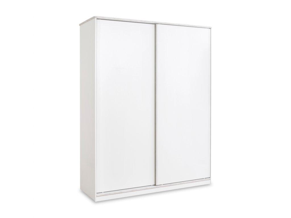 Studentská skříň s posuvnými dveřmi White