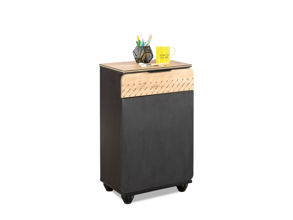 Dětský noční stolek Black compact