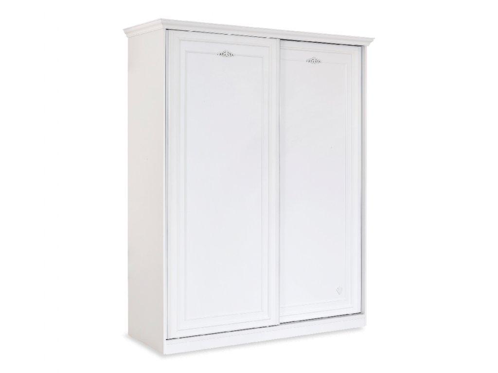 Dětská šatní skříň s posuvnými dveřmi Romantica