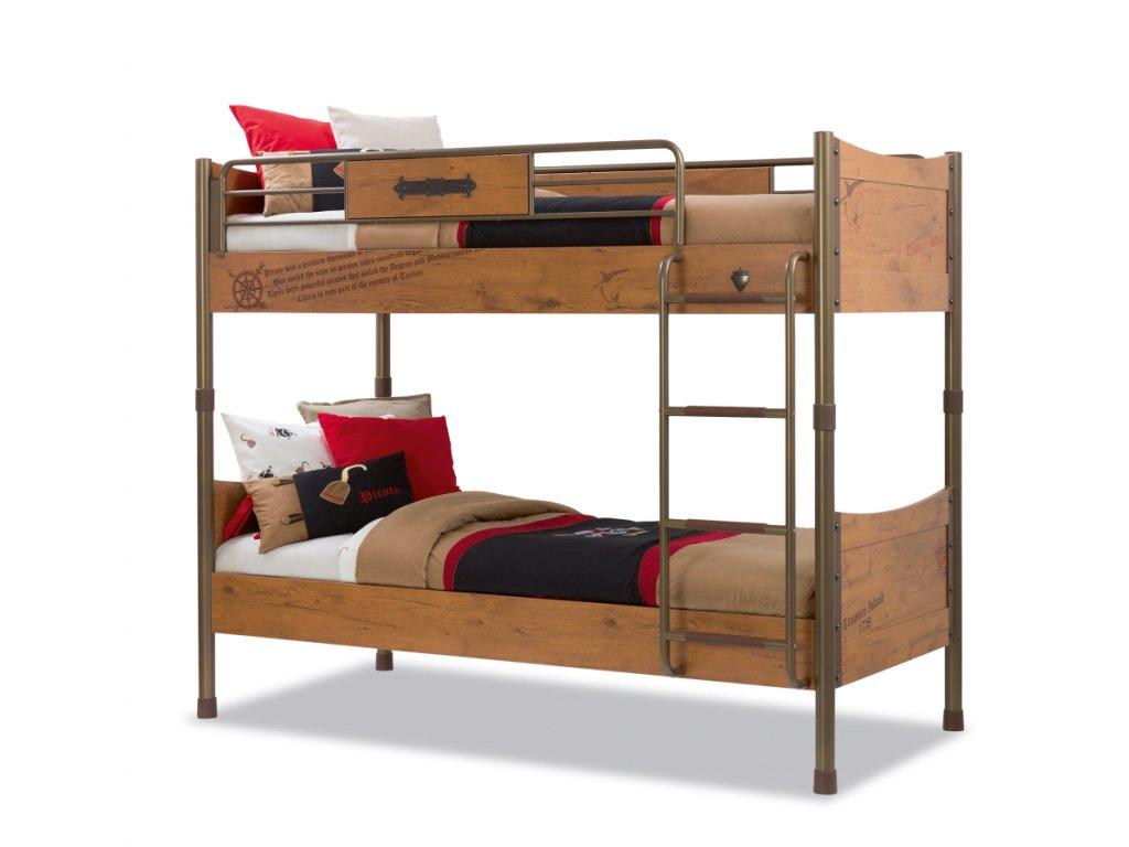 Dětská patrová postel 90x200 cm Pirate