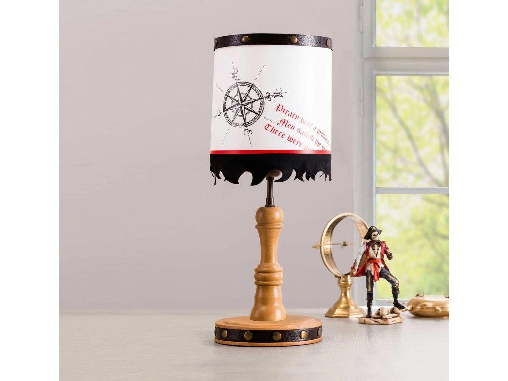 Dětská stolní lampa Black Pirate