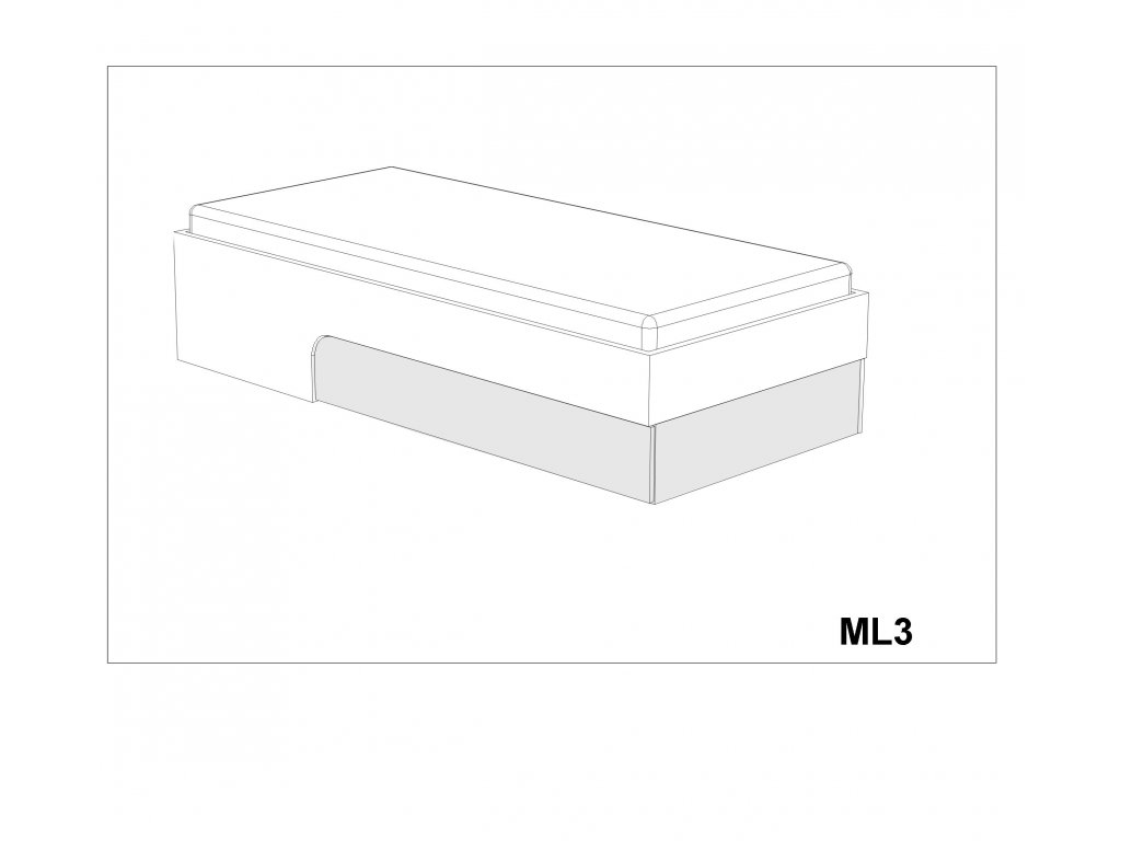 Postel Max-i ML3 (90-140x200 cm)