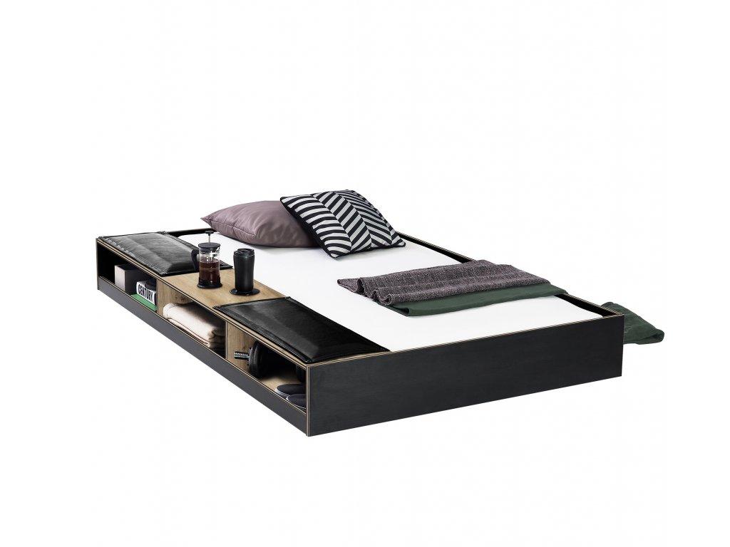 vysuvacia postel black