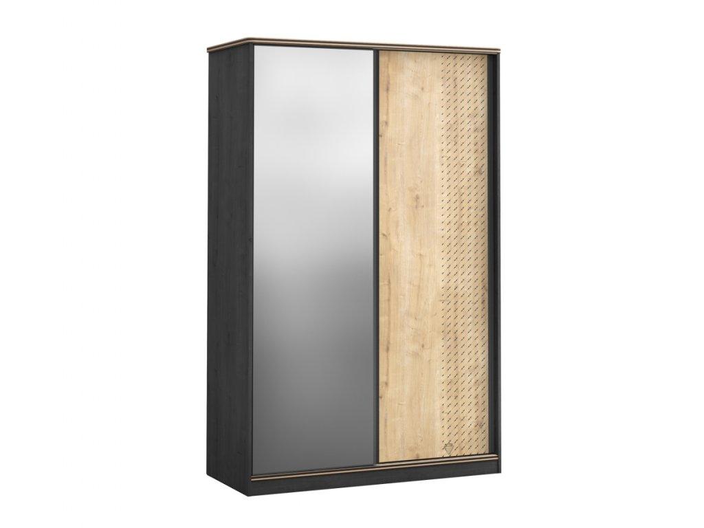 Skříň s posuvnými dveřmi a zrcadlem Black