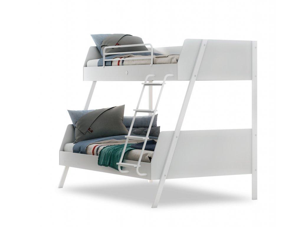 postel pro dve deti white