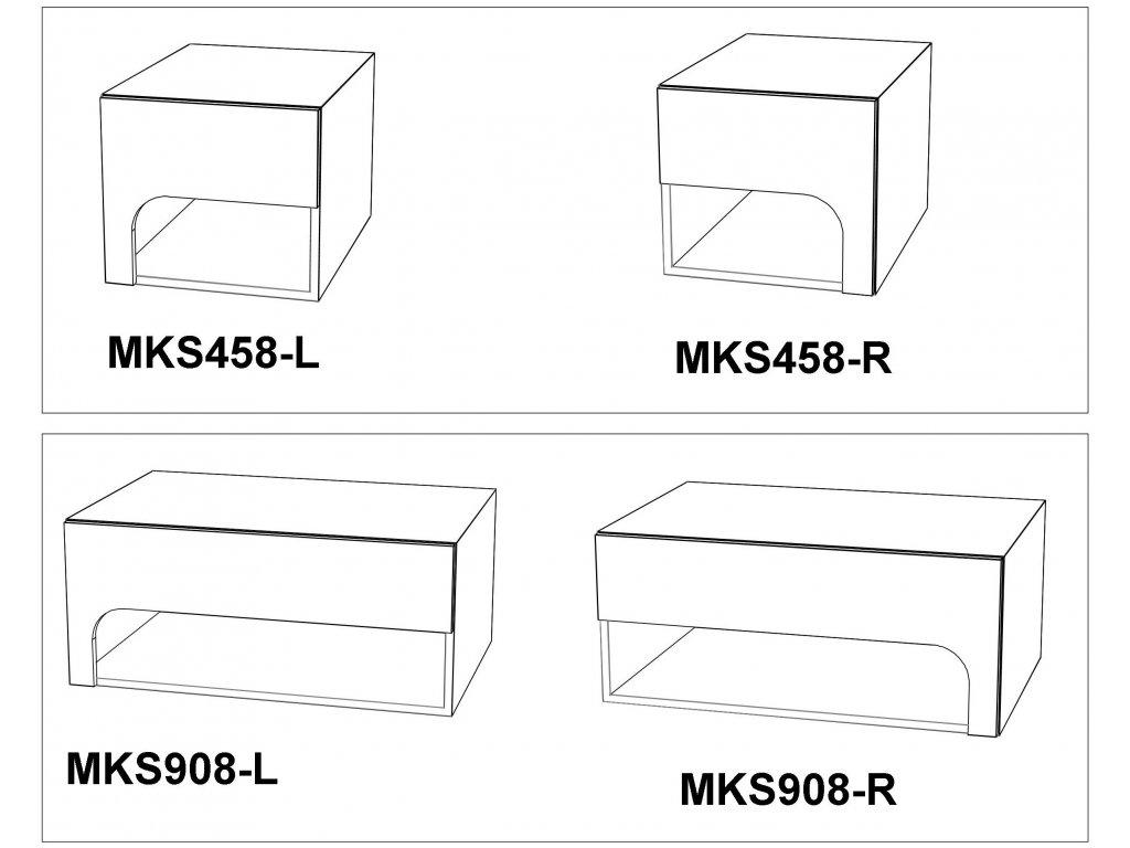Noční stolek Max-i MKS