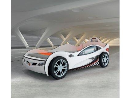 Dětská postel auto 90x190 cm Coupe bílá