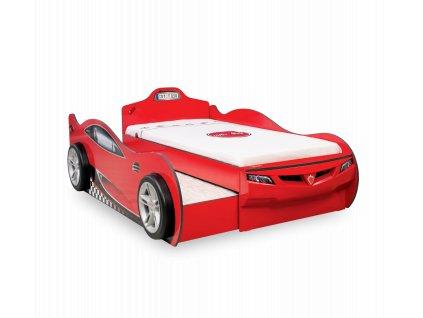 Dětská postel auto 90x190 cm Coupe Friend červená