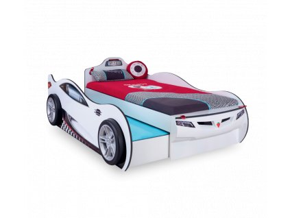 Dětská postel auto 90x190 cm Coupe Friend bílá