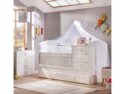 Dětská postýlka rostoucí Baby Cotton SET