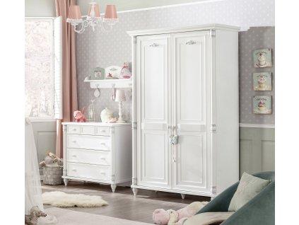Dětská šatní skříň dvoudveřová Romantic