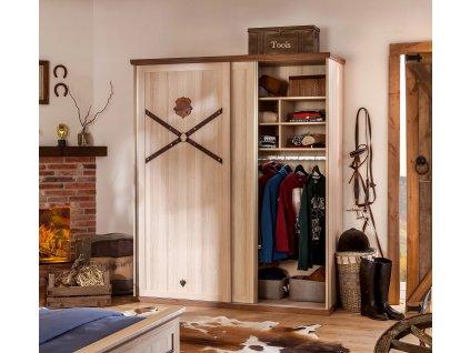 Šatní skříň s posuvnými dveřmi Royal