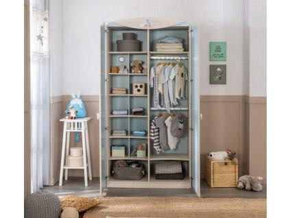 Dětská skříň pro miminko dvoudveřová Baby Boy