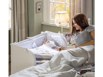 Postýlka k posteli bílá SET