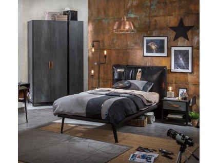 Studentská postel 120x200 cm Dark Metal