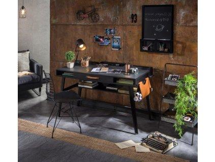 Studentský psací stůl větší Dark Metal