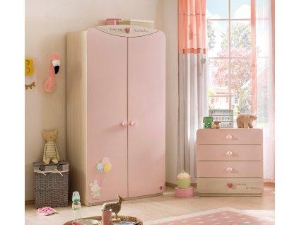 Dětská skříň pro miminko dvoudveřová Baby Girl